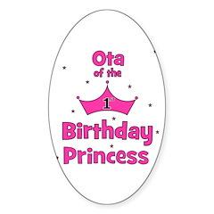 Ota of the 1st Birthday Princ Oval Decal