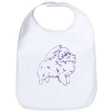 Pom Outline Blue Bib