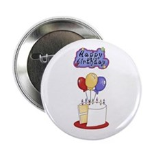 "Happy Birthday 2.25"" Button"