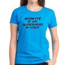 Midwife Superhero by Night Tee