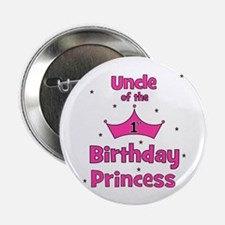 """Uncle of the 1st Birthday Pri 2.25"""" Button"""