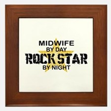 Midwife Rock Star by Night Framed Tile