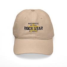 Midwife Rock Star by Night Baseball Cap