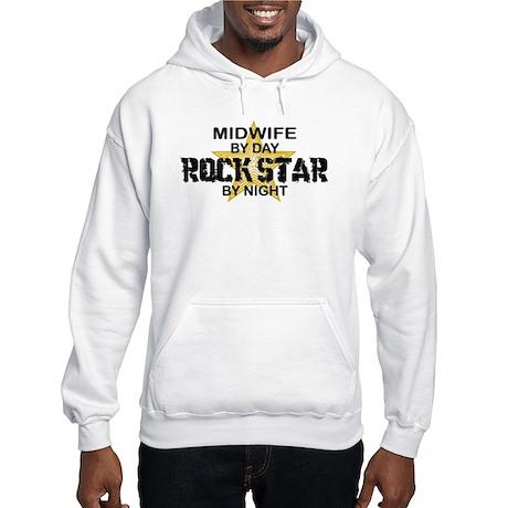 Midwife Rock Star by Night Hooded Sweatshirt