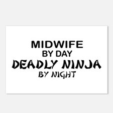 Midwife Deadly Ninja by Night Postcards (Package o