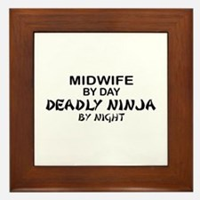 Midwife Deadly Ninja by Night Framed Tile