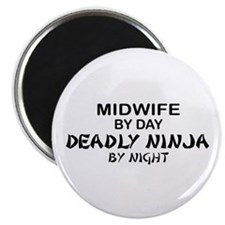Midwife Deadly Ninja by Night Magnet
