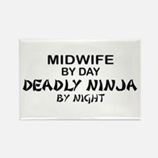 Midwife Deadly Ninja by Night Rectangle Magnet