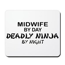 Midwife Deadly Ninja by Night Mousepad