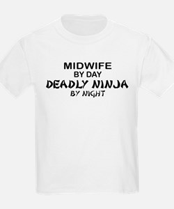 Midwife Deadly Ninja by Night T-Shirt