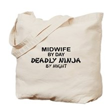 Midwife Deadly Ninja by Night Tote Bag