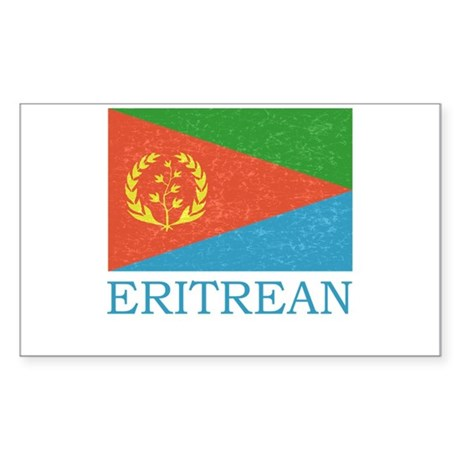 ERITREAN FLAG Rectangle Sticker
