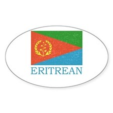 ERITREAN FLAG Oval Decal
