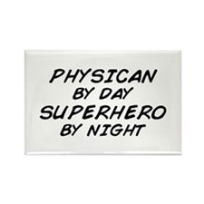 Physician Superhero by Night Rectangle Magnet