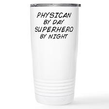 Physician Superhero by Night Thermos Mug
