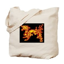 Old Fire Dragon Tote Bag