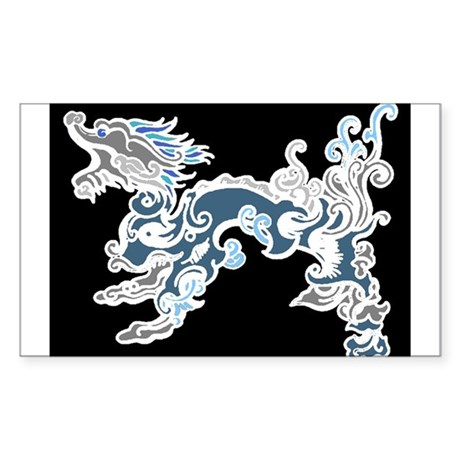 Old Air Dragon Rectangle Sticker