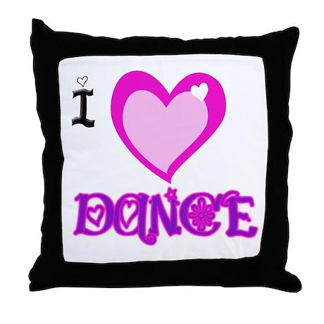 I Love Dance Throw Pillow