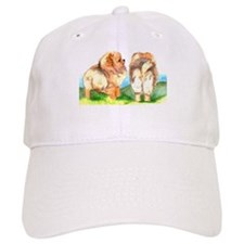 Pom Pups on Grass Baseball Cap