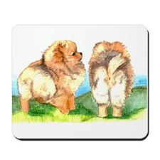 Pom Pups on Grass Mousepad