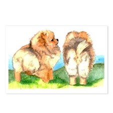 Pom Pups on Grass Postcards (Package of 8)