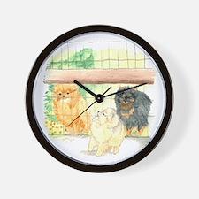 Poms in Yard Wall Clock