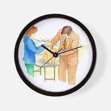 Pom Examined on Table Wall Clock