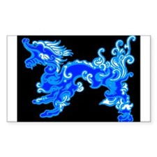 Old Water Dragon Rectangle Decal