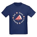 Eat Sleep Cheer Kids Dark T-Shirt