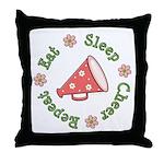 Eat Sleep Cheer Throw Pillow