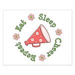 Eat Sleep Cheer Small Poster