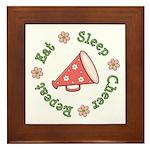 Eat Sleep Cheer Framed Tile