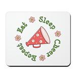 Eat Sleep Cheer Mousepad