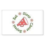 Eat Sleep Cheer Rectangle Sticker 50 pk)