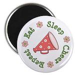 Eat Sleep Cheer Magnet