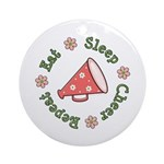 Eat Sleep Cheer Ornament (Round)