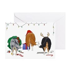 Rough Collie Christmas Greeting Cards (10 Pk)
