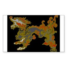 Old Metal Dragon Rectangle Decal