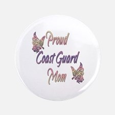 "Proud Coast Guard Mom 3.5"" Button (100 pack)"