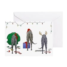 Deerhound Greeting Card