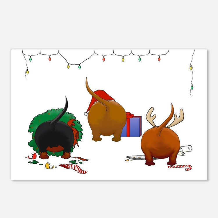 Dachshund Doxie Christmas Postcards (Package of 8)