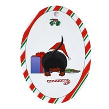 Dachshund Doxie Christmas Oval Ornament