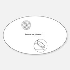 Rescue me Seelie Oval Decal