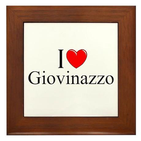 """""""I Love (Heart) Giovinazzo"""" Framed Tile"""