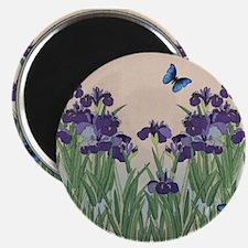 Japanese Iris & Butterflies Magnet