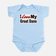 I Love My Great Dane Infant Bodysuit