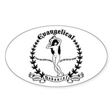 Evangelical Hedonist Oval Decal