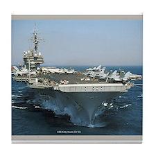 USS Kitty Hawk (CV 63) Tile Coaster