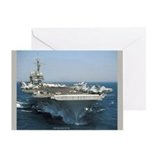USS Kitty Hawk (CV 63) Greeting Card