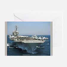 USS Kitty Hawk (CV 63) Greeting Card